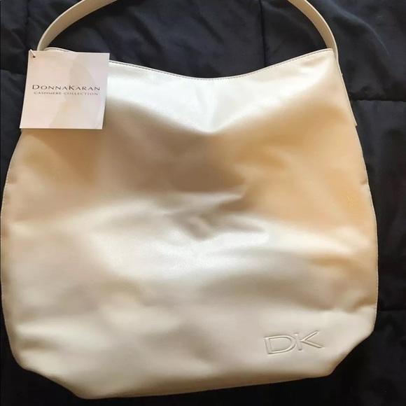 Donna Karan DKNY black cashmere mist Tote shoulder Bag shopper purse shopper